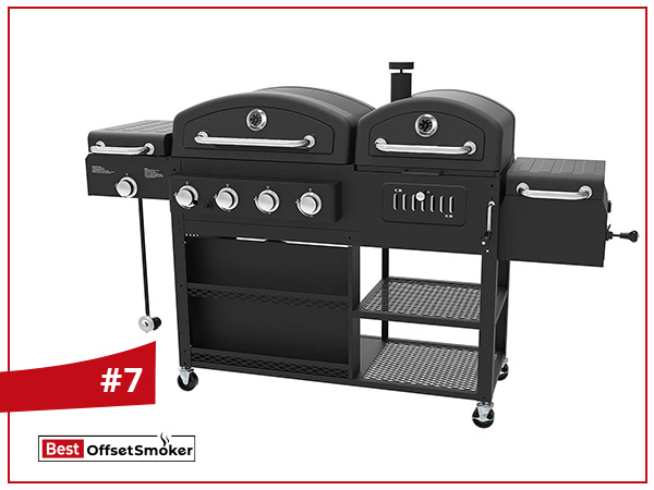 Smoke Hollow Pro Series 4 in 1 Gas Charcoal Combo Grill